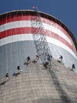 120米双曲线冷却塔装饰