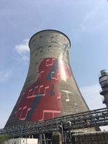 120米凉水塔彩绘