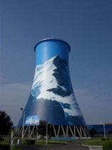 凉水塔刷航标