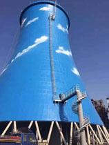 100米冷却塔水塔涂刷