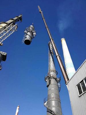 自立式钢烟囱吊装