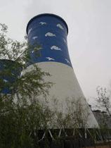 110米双曲线冷却塔画画公司