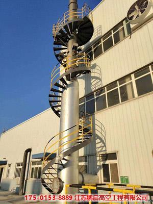 塔架式钢烟囱卷板制作