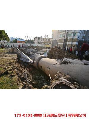 35米圆柱壳水塔脚手拆除