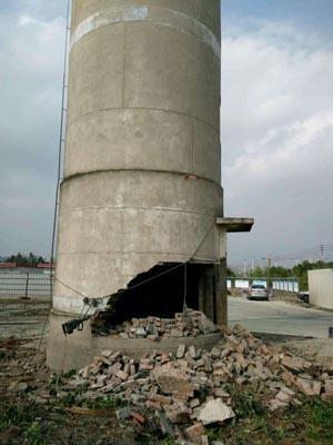 脚手拆除砖制烟囱专业公司