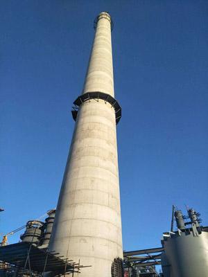 倒模160米烟囱