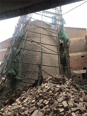 无脚手拆除砖混烟囱专业施工单位