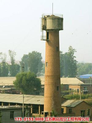20米圆柱壳水塔人力拆除