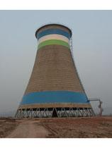 画图案110米双曲线冷却塔