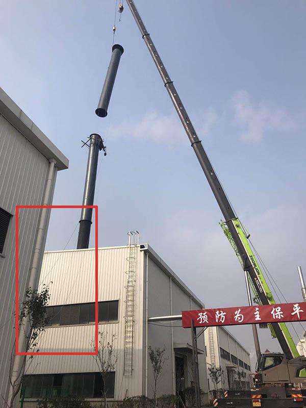 鋼煙囪安裝風纜繩